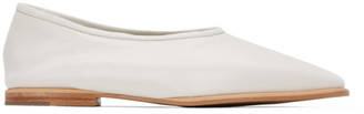 Low Classic White Square Toe Flat Loafer