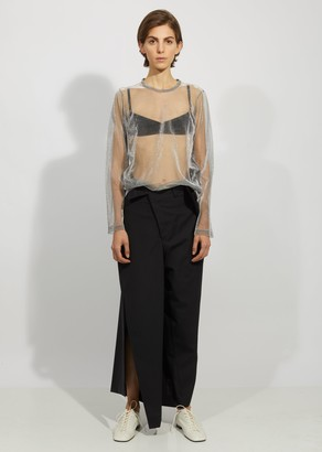 Junya Watanabe Wool Polyester Stripe Trousers