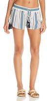 Thumbnail for your product : Surf.Gypsy Printed Side Lace-Up Swim Cover-Up Shorts