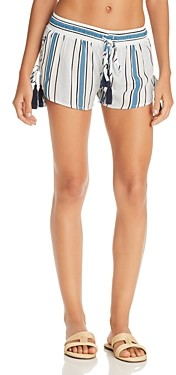 Surf.Gypsy Printed Side Lace-Up Swim Cover-Up Shorts