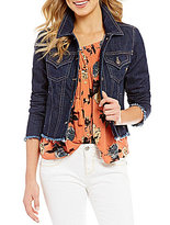 Miss Me Frayed Hem Denim Jacket