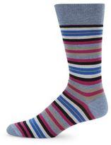 Saks Fifth Avenue Striped Mid-Calf Socks