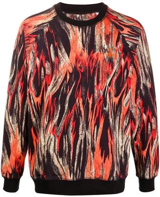 Vivienne Westwood Flame-Print Cotton Sweatshirt