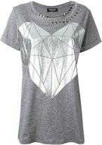 Twin-Set printed stud T-shirt - women - Cotton - XS