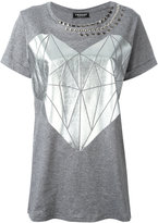 Twin-Set printed stud T-shirt