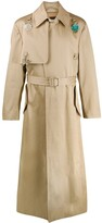 Raf Simons charm long trench coat
