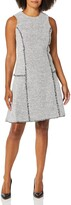 Thumbnail for your product : Ellen Tracy Women's Sleeveless Seamed Flounce Dress