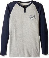 Quiksilver Men's Polar Waters Henley Baseball T-Shirt