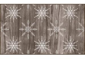 "Mohawk Barnwood Snowflakes Driftwood Accent Rug, 18"" x 30"" Bedding"