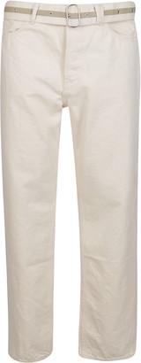Jil Sander White Cotton Jeans