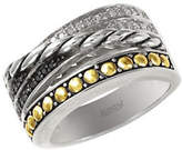 Black Diamond Effy 18k Yellow Gold and Silver Diamond and Ring