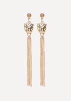 Bebe Leopard Duster Earrings
