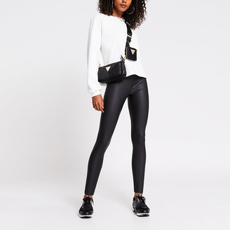 River Island Black coated legging