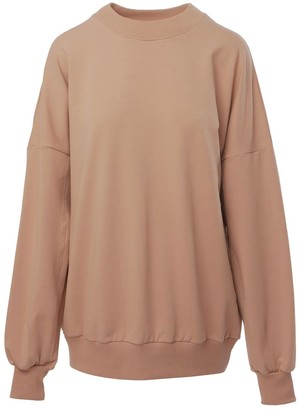 Le Slap Lifetime | Nude Oversize Sweater With Brand's Logo