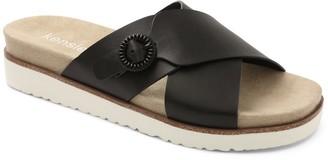 Kensie Cross Strap Slip On Slide Sandals - Delicah