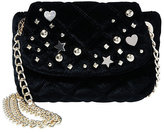 Betsey Johnson Quilty As Charged Velvet Crossbody