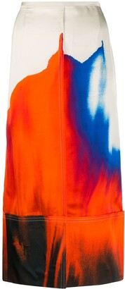 Colville Watercolor Straight Skirt