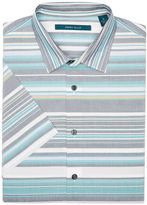Perry Ellis Big and Tall Short Sleeve Stripe Shirt