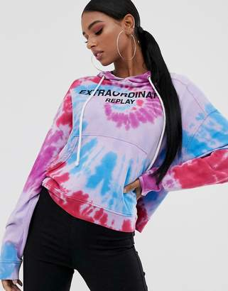 Replay tie dye hoodie sweater-Multi