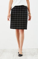 J. Jill Crinkled A-Line Knit Skirt