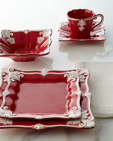 Horchow 12-Piece Red Square Baroque Dinnerware Service