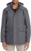 Cole Haan Waterproof Wool Hooded Jacket