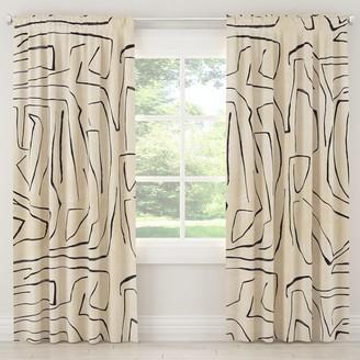 Lulu & Georgia Linen Grafitto Curtain Panel