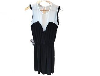 Bel Air Black Silk Dress for Women