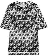 Fendi Embroidered Printed Stretch-cotton Jersey T-shirt