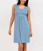 La Leche League International Blue Lagoon Nursing Nightgown - Plus Too