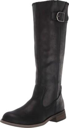 "Harley-Davidson Women's Keyser/Blk 16"" Whip Stitch Shaft Boot"