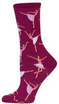 Hot Sox Ballerina Printed Socks