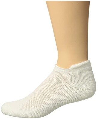 Thorlos Golf Roll Top Single (White) Crew Cut Socks Shoes