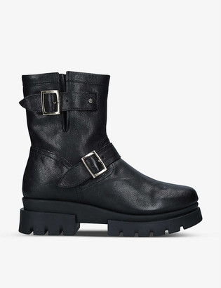Carvela Comfort Run leather biker boots
