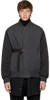 Robert Geller Grey Cupro Combo Bomber Jacket