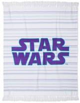 """Star Wars Throw Blanket (50""""x60"""") White & Purple"""