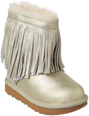 UGG Classic Short Ii Fringe Suede Boot
