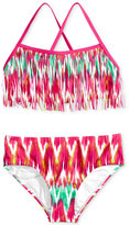 Kanu Surf 2-Pc. Kelly Fringe Bikini Swimsuit, Big Girls (7-16)