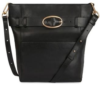 Vanessa Bruno Smooth Calfskin Leather Hobo Iris Bag