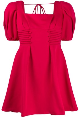 Self-Portrait Puffed Sleeve Square Neck Dress