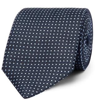 Ermenegildo Zegna 8cm Polka-Dot Silk-Jacquard Tie