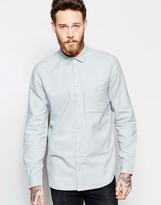 Weekday Delta Flannel Regular Fit Shirt in Light Gray