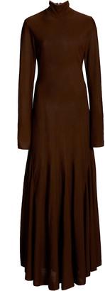 Bottega Veneta Mock-Neck Jersey Maxi Dress
