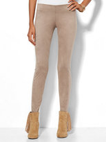 New York & Co. Soho Jeans - Faux-Suede Front Ponte Legging - Espresso