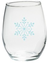 Kate Aspen Set of 4) Snowflake 15 oz. Stemless Wine Glass