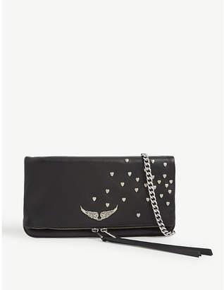 Zadig & Voltaire ZADIG&VOLTAIRE Rock heart-embellished leather clutch