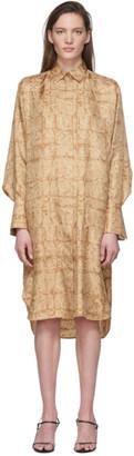The Row Brown Silk Sonia Dress