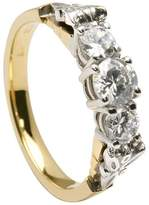 BORU Trinity Knot Ring Diamond 14K Multi Tone Gold Irish Made Sz 6