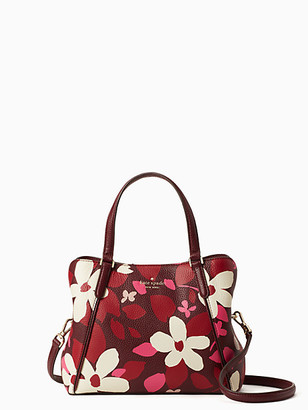 Kate Spade Jackson Forest Floral Medium Triple Compartment Satchel