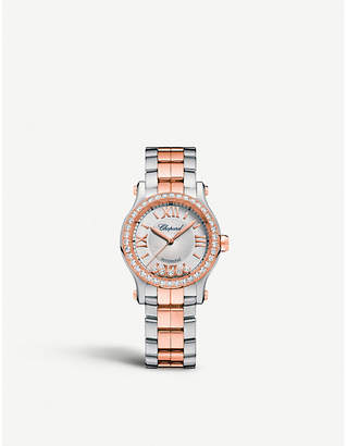 Chopard Happy Sport 30mm Automatic 18ct rose gold and diamond watch
